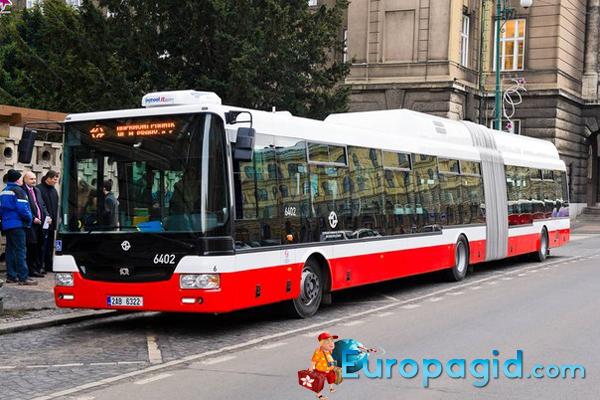 расписание автобусов в Праге