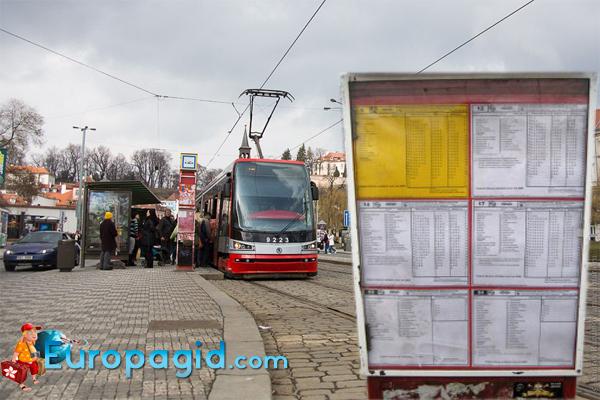 расписание трамваев в праге