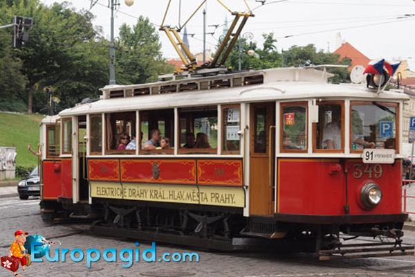 старые трамваи в праге
