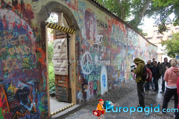 Пражская стена Ленонна