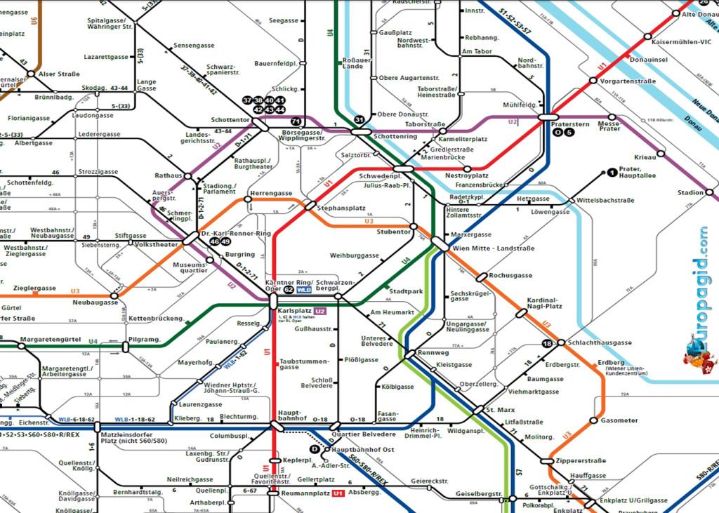билеты на автобус в Вене на карте
