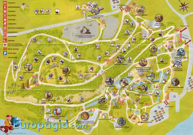 зоопарк в Праге на карте