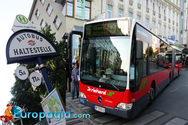 расписание автобусов в Вене
