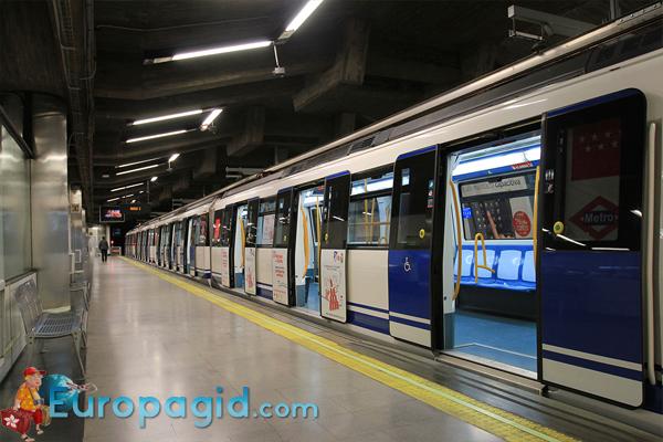 билет на метро в Мадриде