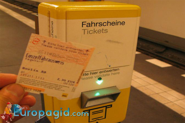 где купит билеты на транспорт в Берлине
