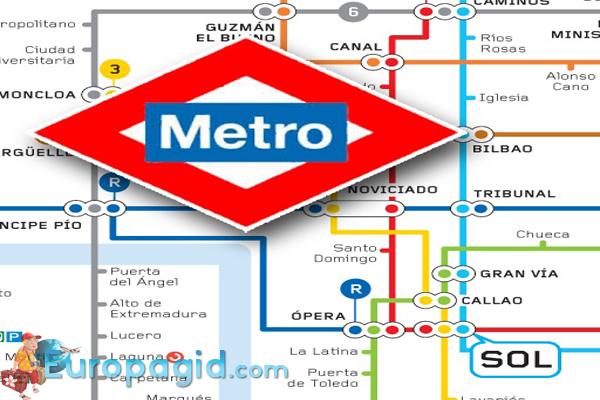 карта мадридского метро