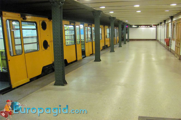 на схеме метро Будапешта