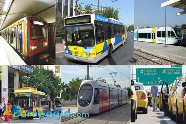 общественный транспорт в Афинах