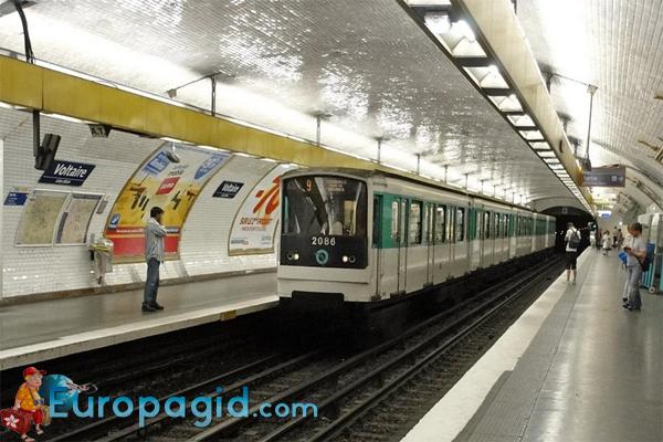 станции метро Парижа