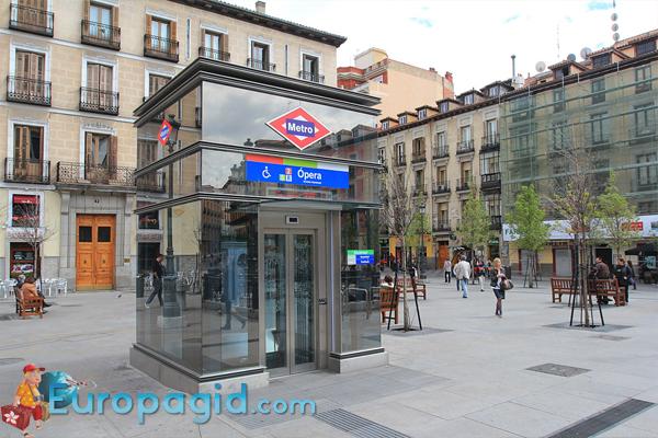 схема метро Мадрида
