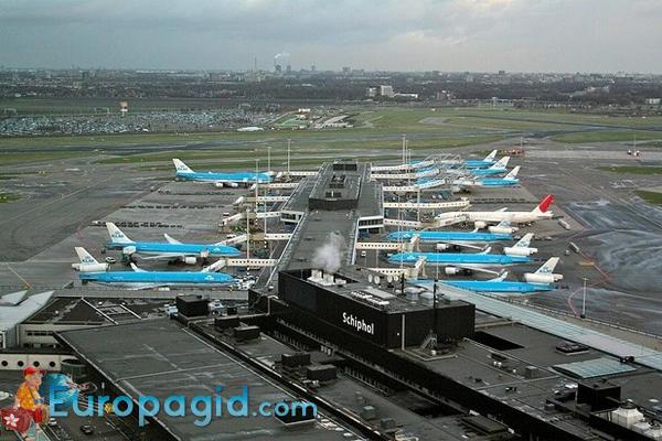 вид на Аэропорта Схипхол