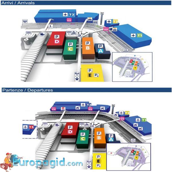 схема аэропорта Рима