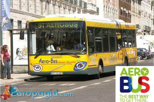 из аэропорта Лиссабона на автобусе