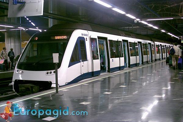 из аэропорта Мадрида  на метро