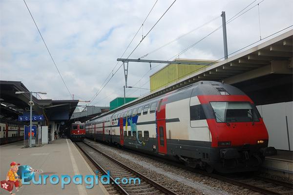 из аэропорта Цюриха на поезде быстро