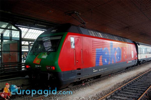 из аэропорта Цюриха на поезде
