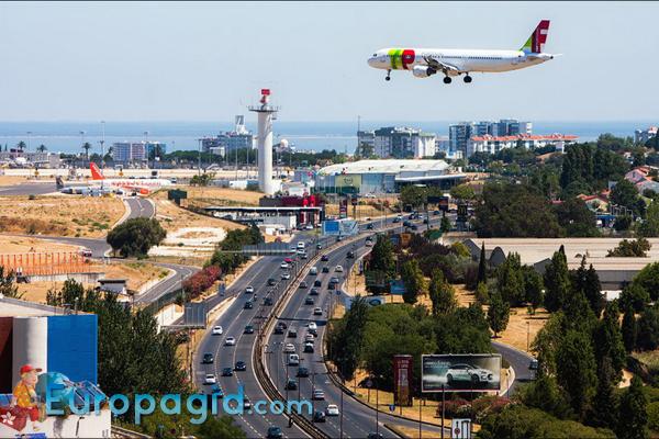лиссабонский аэропорт вид