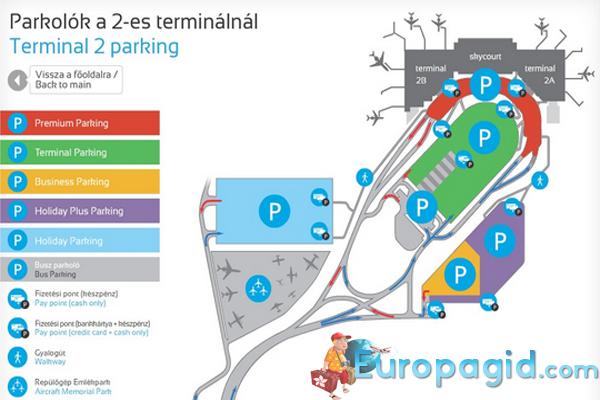 Схема аэропорта в Будапеште