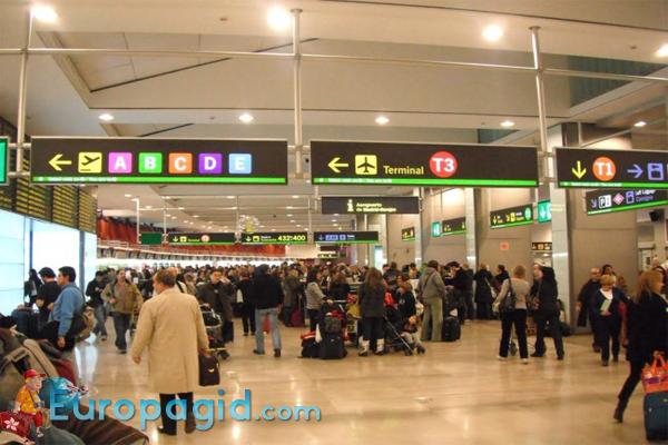 табло аэропорта Мадрида Бахарас