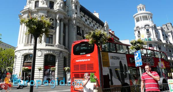 Мадридский экскурсионный автобус