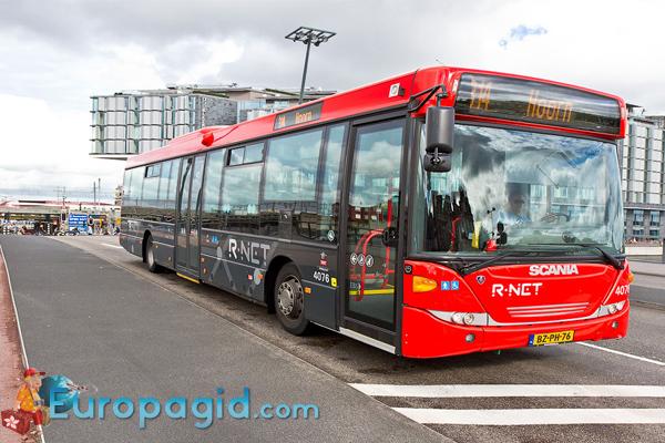 автобусный транспорт Амстердама