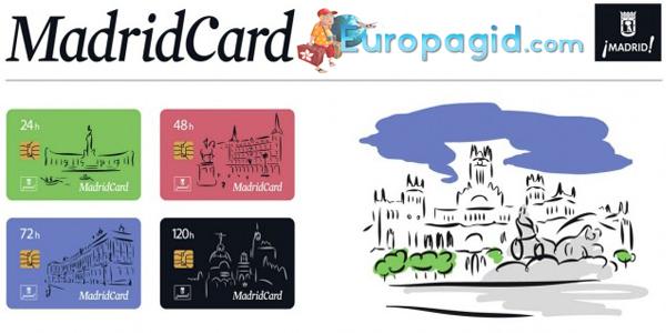 туристическая карта Мадрида