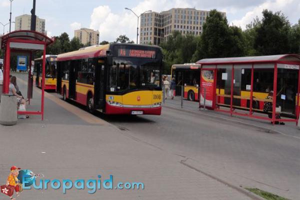 в Варшаве как транспорт
