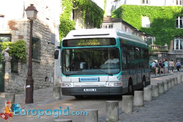 Маршруты туристических автобусов в Париже