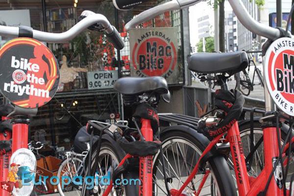 где арендовать велосипед в Амстердаме