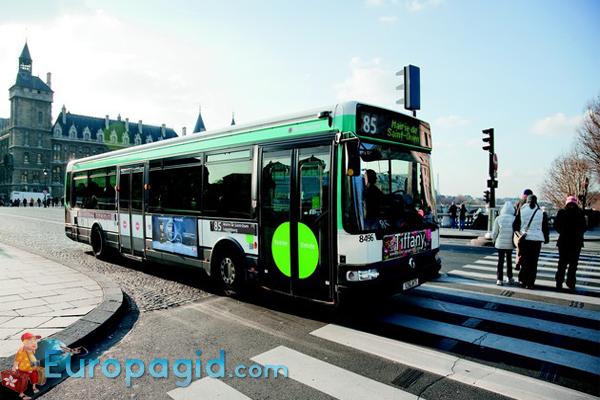 городские автобусы Парижа