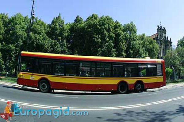 городские автобусы в Варшаве