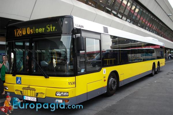 из аэропорта Тегель в Берлин на автобусе