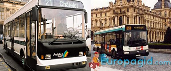 парижские автобусы