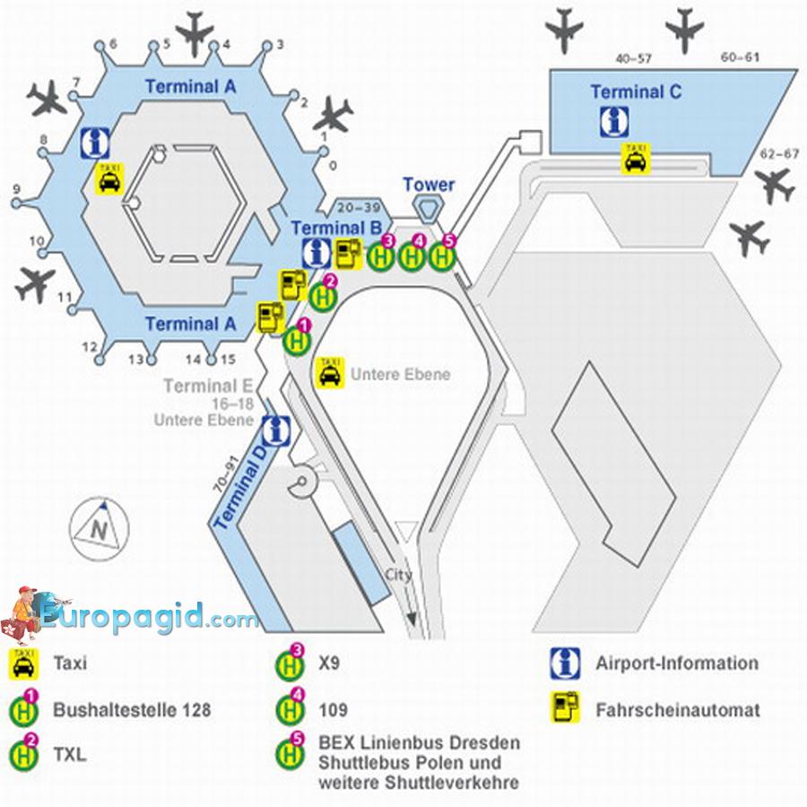 схема аэропорта Тегель