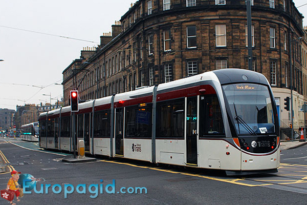 транспорт Эдинбурга трамвай