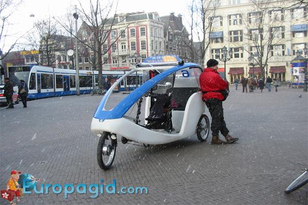 Вело такси в Амстердаме