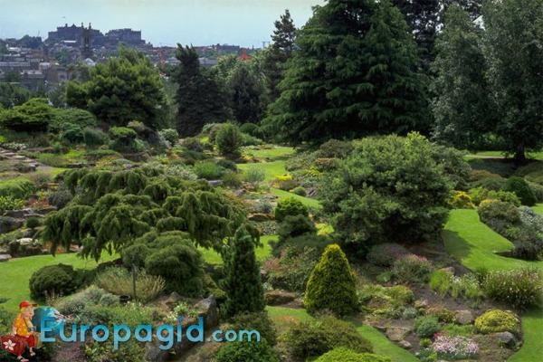 Королевский ботанический сад в Эдинбурге на карте