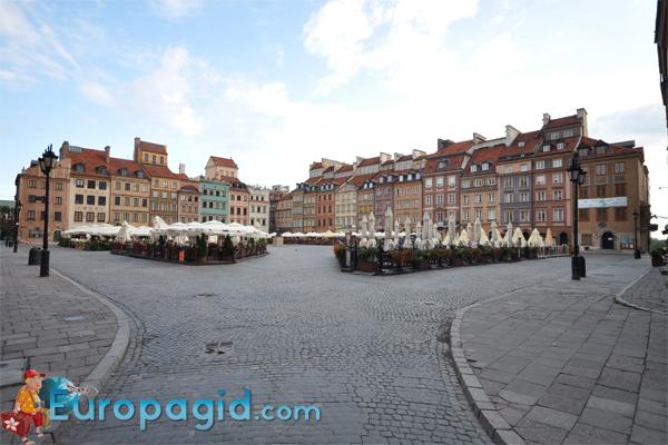 Старый город Варшавы площадь