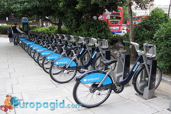 велосипеды в Париже