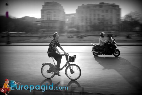 где арендовать велосипед в Париже