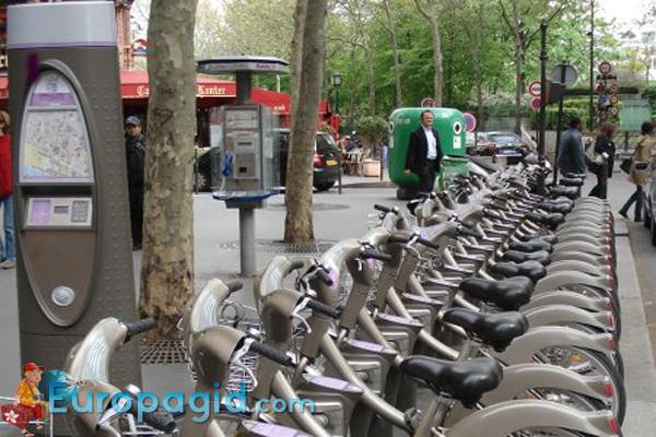пункты проката велосипедов в Париже