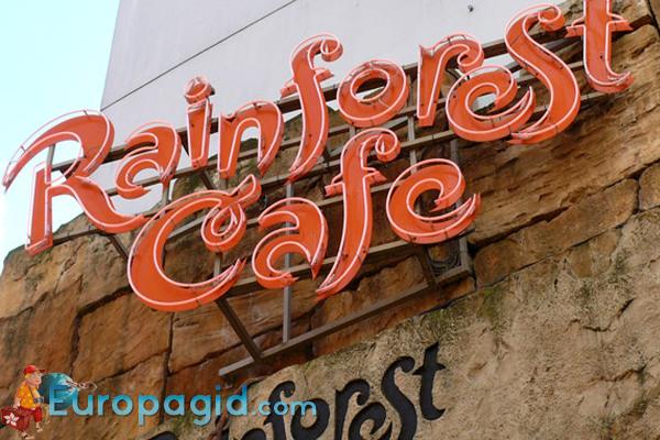 рестораны Диснейленда в Париже дождливый лес