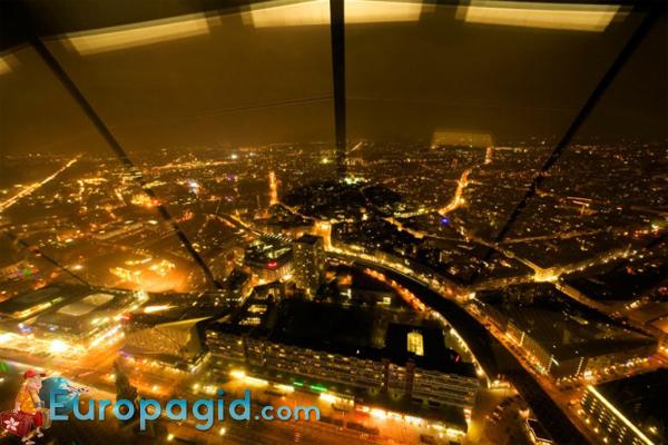 телебашня в Берлине вид сверху