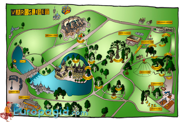 Park Varosliget карта