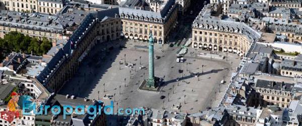 Вандомская площадь в Париже для всех