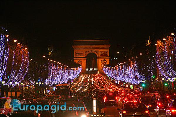 Елисейские поля в Париже как доехать ночью