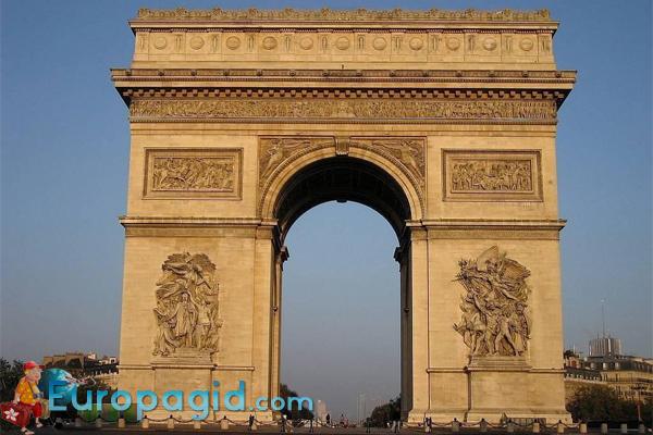 история триумфальной арки Парижа