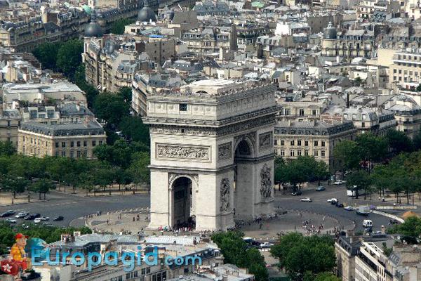 как добраться к триумфальной арки Парижа