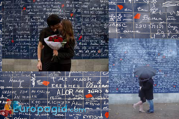 стена любви в Париже для вас
