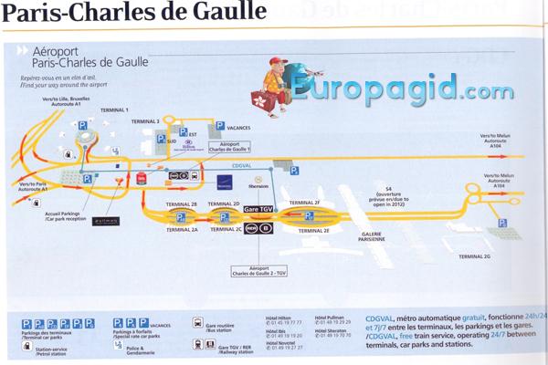 терминалы аэропорта Шарля де Голля